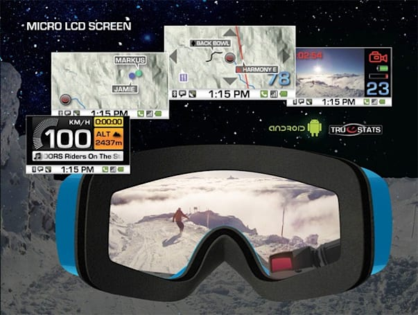 Recon details next-gen GPS goggle technology: Android, Bluetooth, endless fantasies