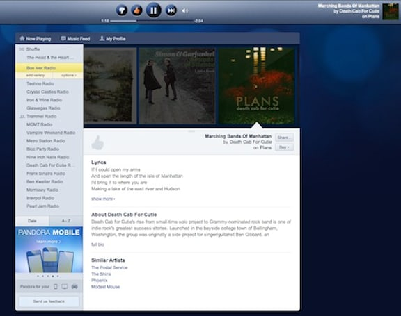 Pandora ditches Flash, opens up the HTML5 box for redesign