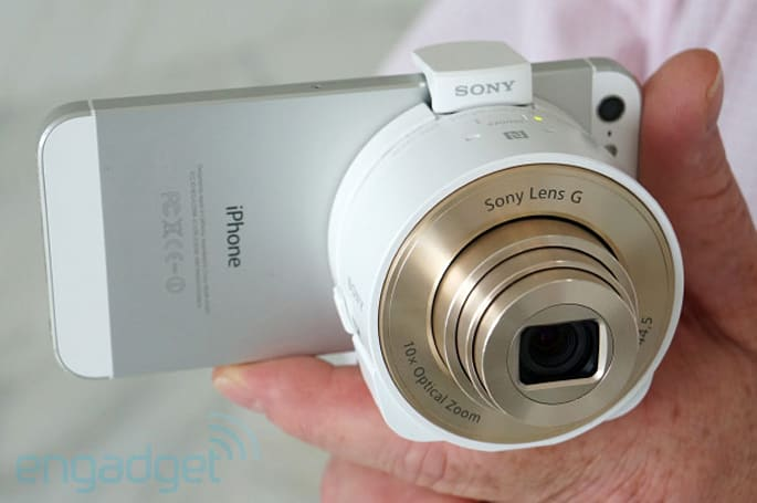 Sony DSC-QX100 and QX10 lens cameras bring top-notch optics to any smartphone or tablet, we go hands-on (video)