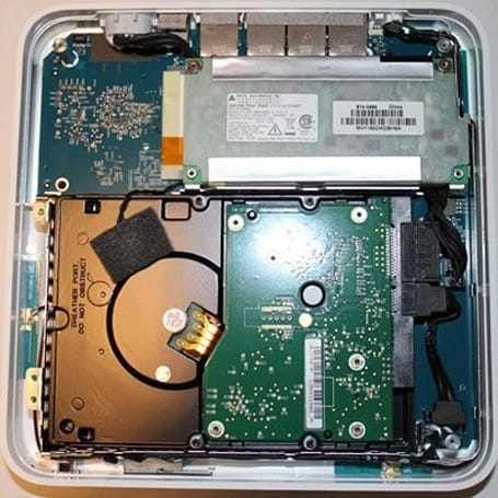 Updated Time Capsule opened, server-grade hard drive nowhere to be found?