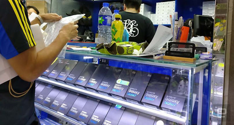 You can still buy the Note 7 in Hong Kong, but you shouldn't