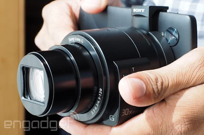 Sony updates 'lens camera' lineup with QX30, interchangeable-lens QX1