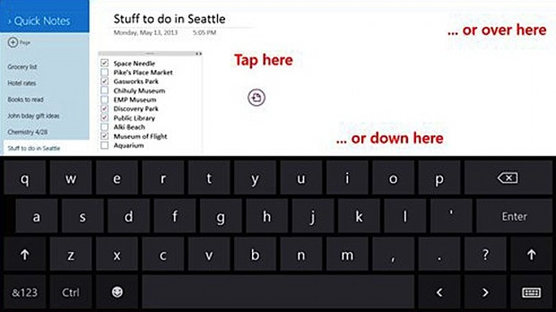 OneNote for Windows 8 gains Office 365 integration, touch keyboard improvements