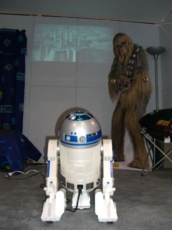 Video: R2D2 projector, webcam and lightsabre Skype phone