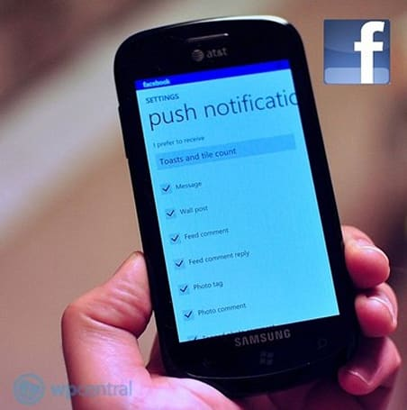 Facebook 2.0 finally brings push notifications to Windows Phone 7