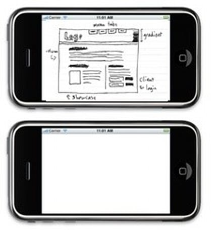 A sketchpaper version of the iPhone