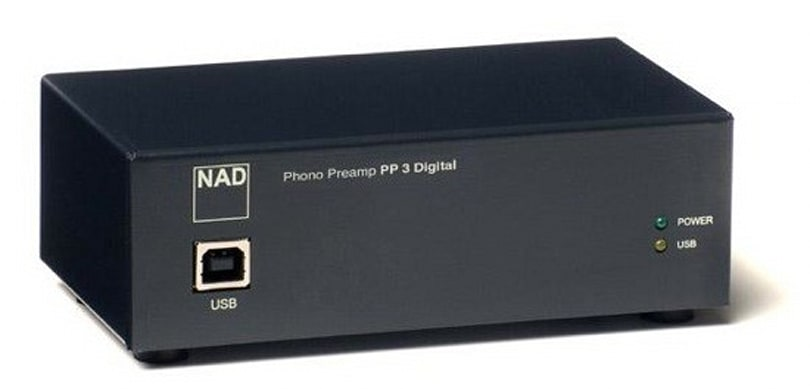 NAD's PP-3 digital phono preamp turns vinyl pits to digital bits