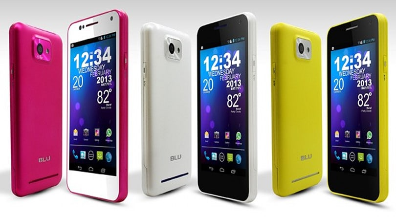 BLU Products to use stock Android from now on, gives Vivo 4.3 new colors and Jelly Bean