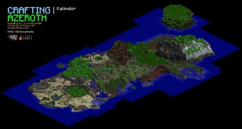 The world of World of Warcraft recreated in Minecraft