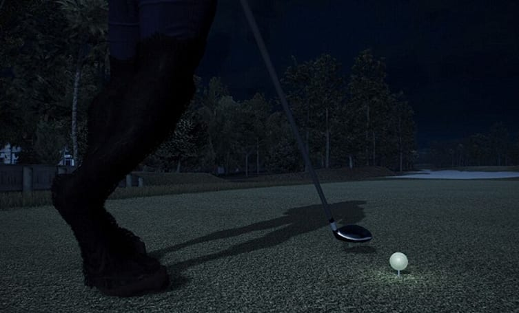Check out the gams on this Tiger Woods 14 'Night Golf' player