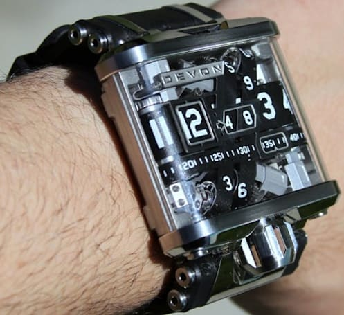 Devon Works Tread 1 belt-driven, bulletproof wristwatch tested, proven to actually tell time (video)