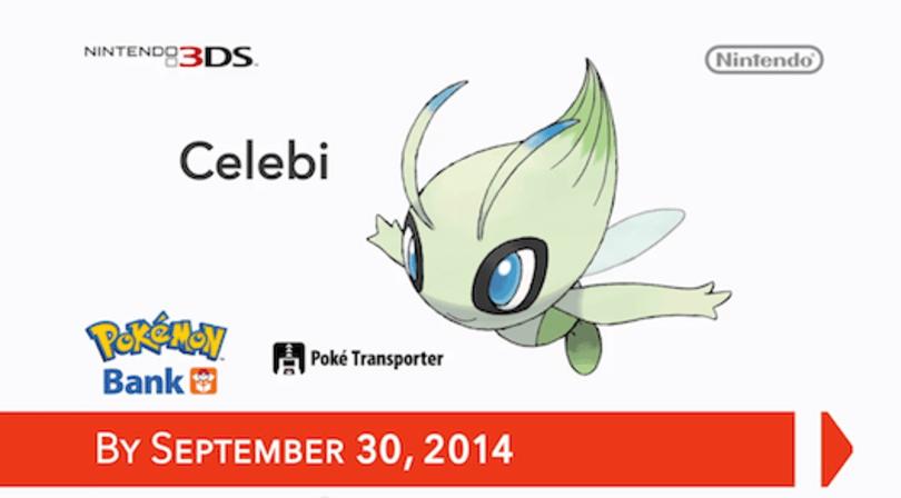 Use Pokemon Bank by September 30, get free Celebi