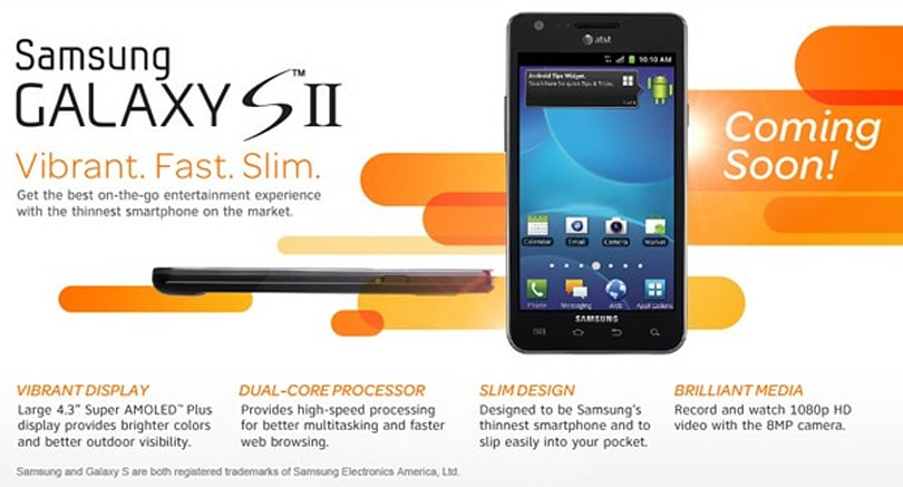 Samsung Galaxy S II 'coming soon' to AT&T, sign up page goes live