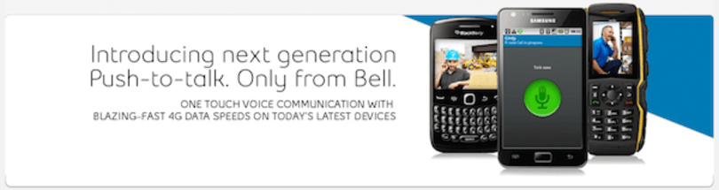 Bell Canada launches revamped push-to-talk service, now with added 4G