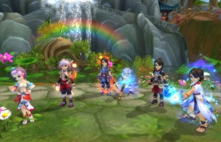 The spellcasters of Ether Saga Online