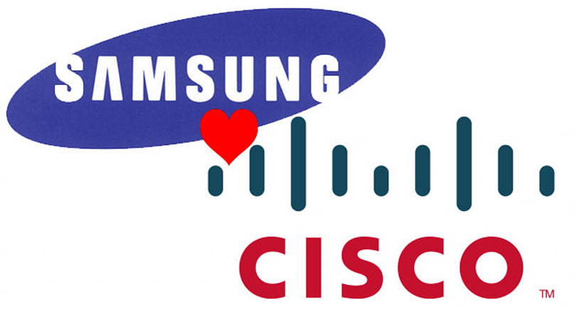 Samsung and Cisco agree to share patents, sue less