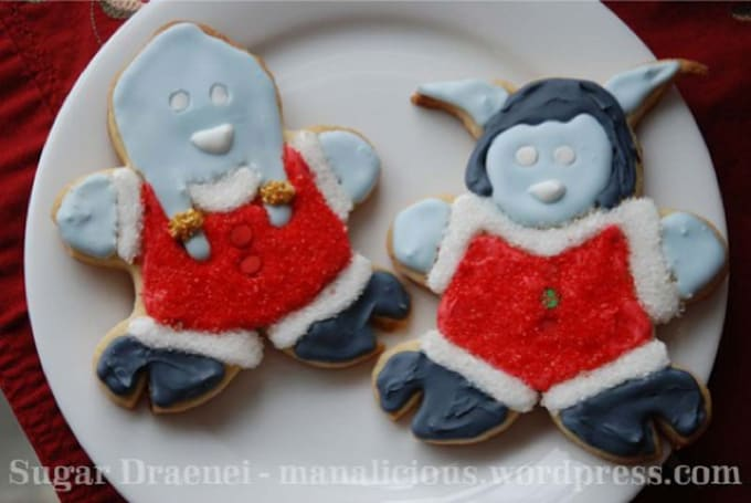 DIY your own draenei holiday cookies with Manalicious