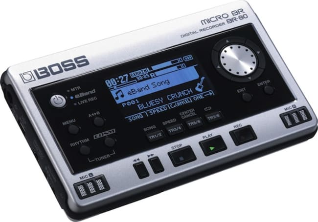BOSS's Micro BR-80 digital multitrack and field recorder fits the band and studio in your hand