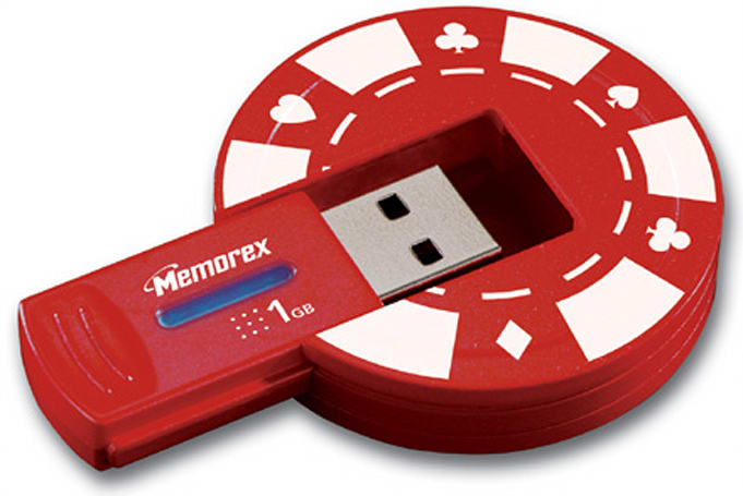 Memorex Poker Chip USB flash drive knows when to fold 'em