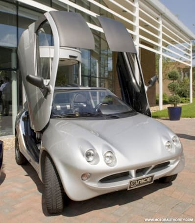 NICE shows off prototype electric car; Liberty plans an electric Range Rover