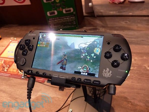 Pictures of Sony's new technicolor PSPs, and Monster Hunter 3 Special Edition preview