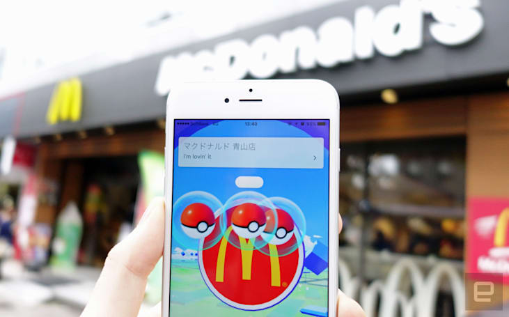 'Pokemon Go' launches in Japan under golden arches