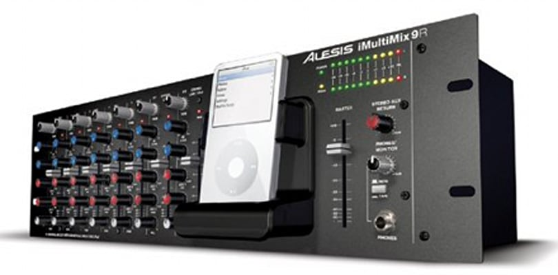 Alesis unveils the iMultiMix 9R rack mixer with iPod dock