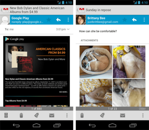 Gmail 4.2.1 for Android adds easier resizing, swipe features and more
