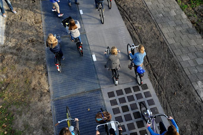 The first solar bike path is producing more energy than expected
