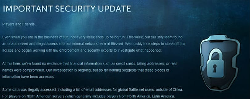 North American players may now update their security questions