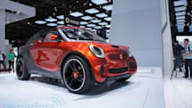 Smart Forstars concept EV brings drive-in theater to a wall near you (video)