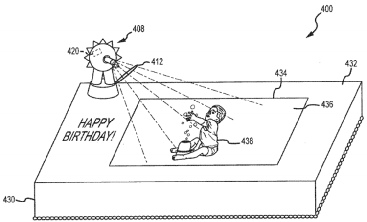 Disney's plan for 'interactive cakes' revealed in patent application