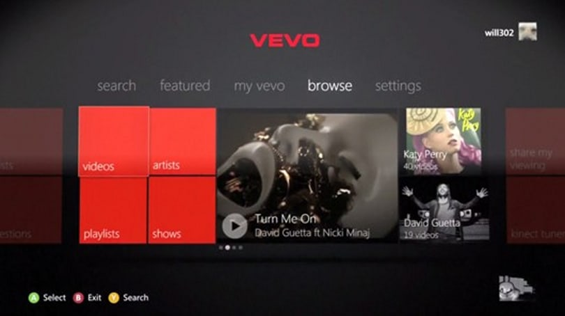 VEVO app now available on Xbox 360