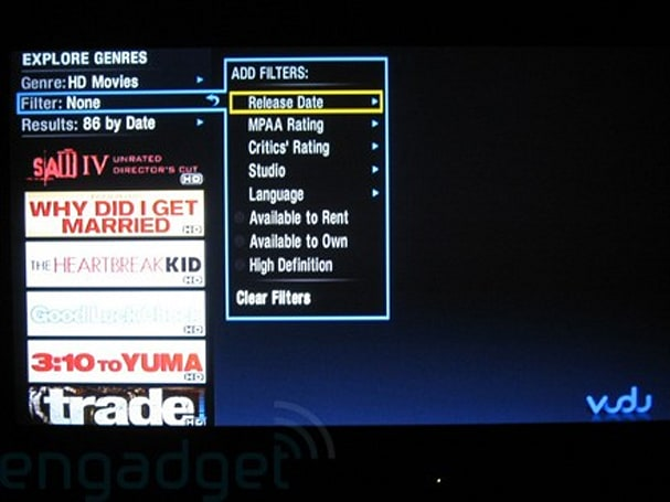 VUDU goes live with 1080p HDX rentals, doesn't charge extra for 'em