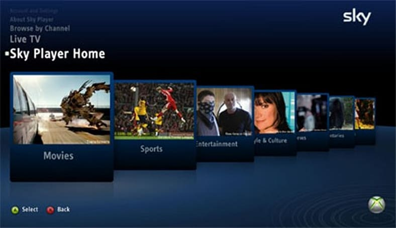 Xbox Live's Sky Player to support Kinect voice commands