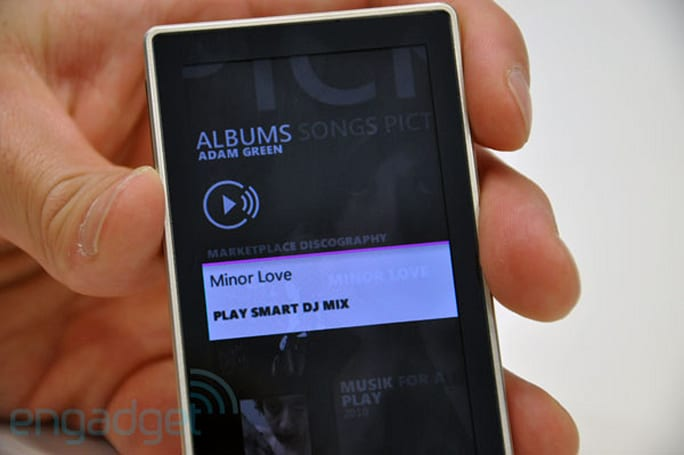 Zune HD v4.5 firmware 'coming soon,' adds SmartDJ, new codecs, and Marketplace access via AV dock (update: video!)