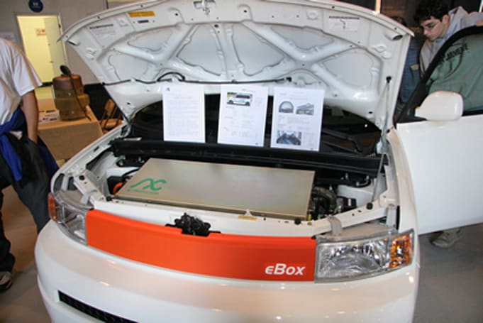 "AC Propulsion converts stock Scion xB into fully electric ""eBox"" car"