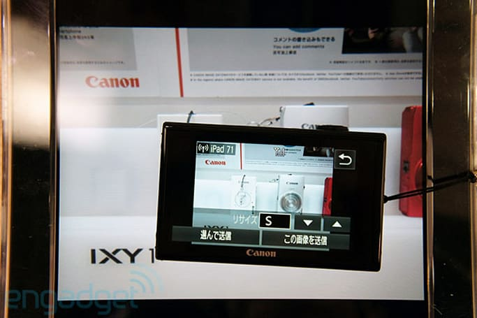 Canon PowerShot ELPH 530 HS WiFi iPad transfer hands-on (video)