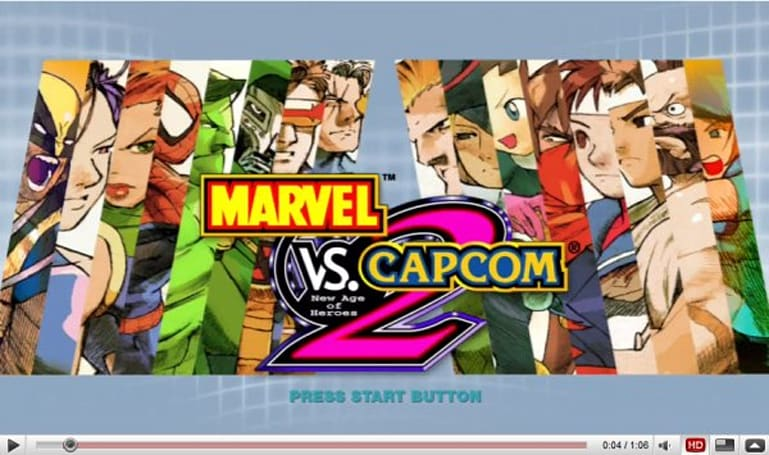 Marvel vs. Capcom 2 HD video compares upscaling methods