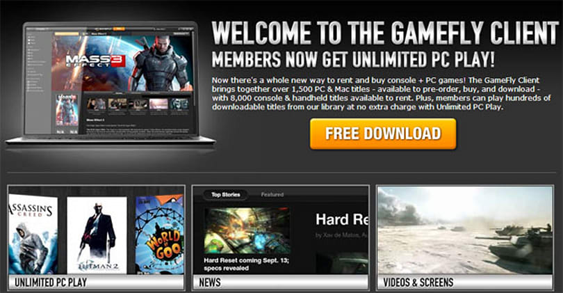 GameFly's digital distribution client officially exits beta, celebrates with free copies of Bioshock