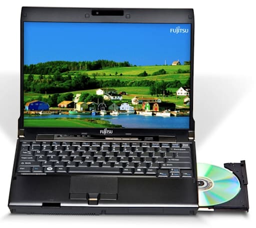Fujitsu's LifeBook P8020 12.1-inch ultraportable wars against the dreaded screen bezel