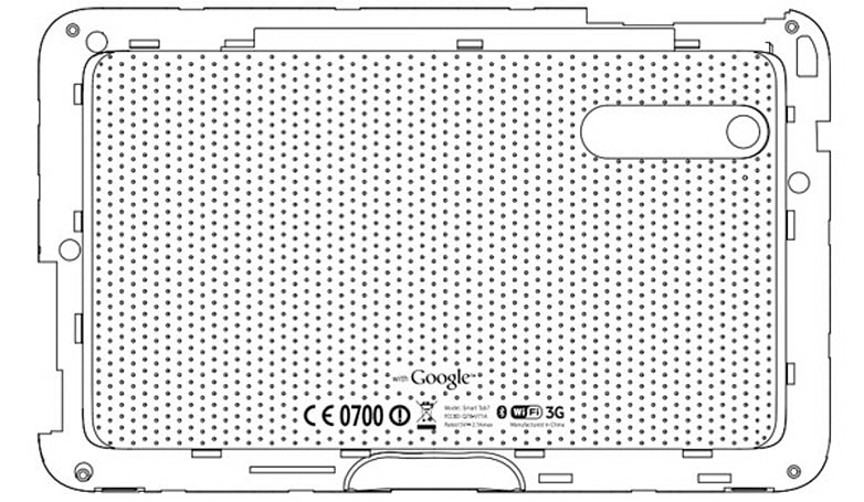 ZTE Smart Tab 7 reveals its Google back tattoo for the FCC