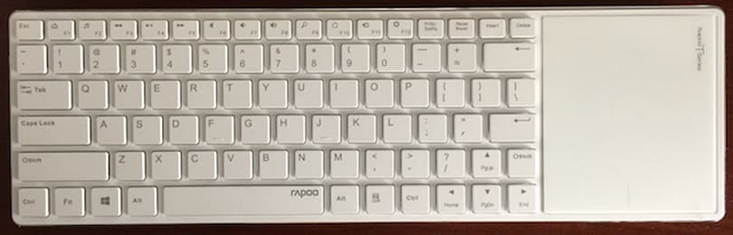Rapoo E6700 Bluetooth Touch Keyboard: Not really for Mac users