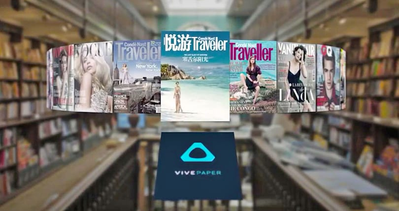 HTC's Vivepaper is a VR magazine stand