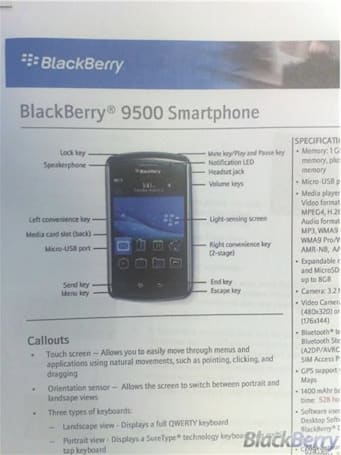 GSM-only BlackBerry Storm / Thunder leaks out