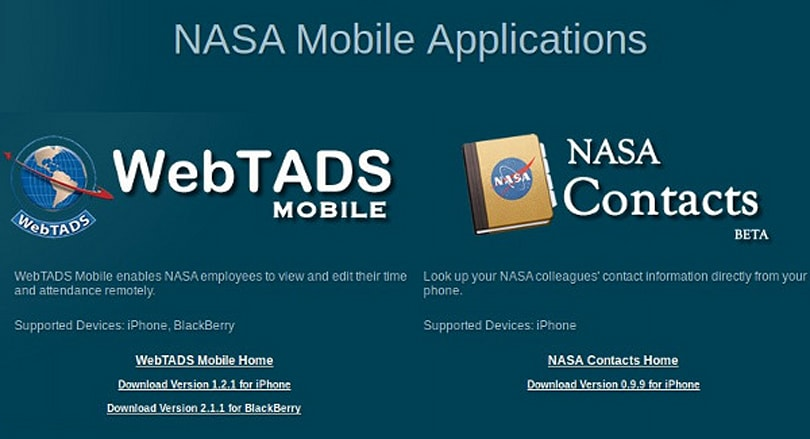 NASA gets in on the app store action, keeps the pickins slim