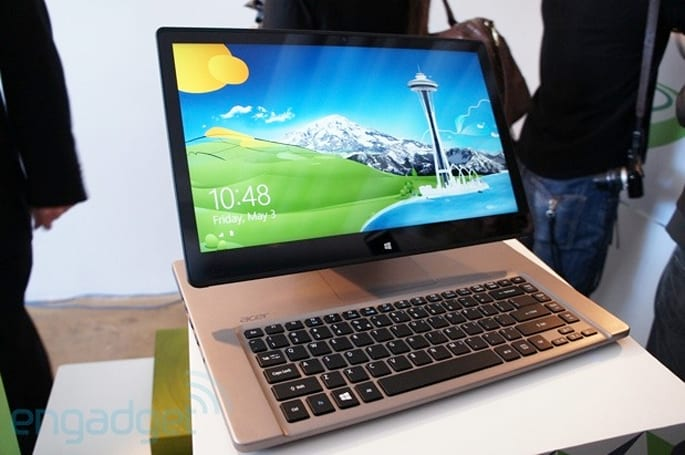 Acer intros Aspire R7, a laptop with an adjustable display like an all-in-one (update: video)