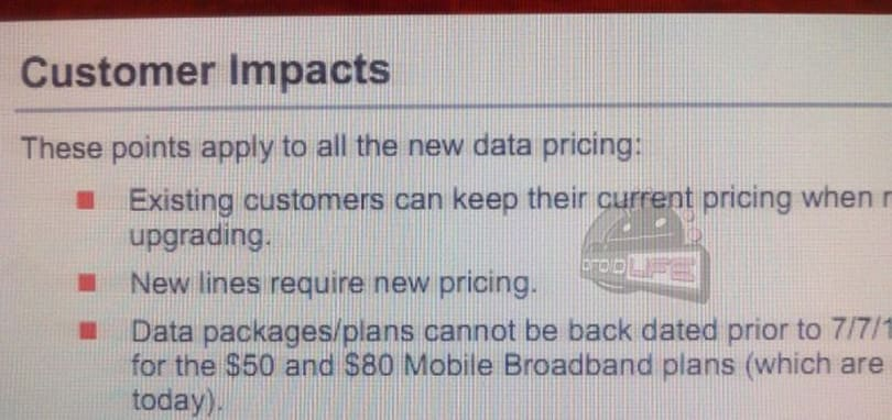 Verizon's tiered data plans won't affect grandfathered customers after all?