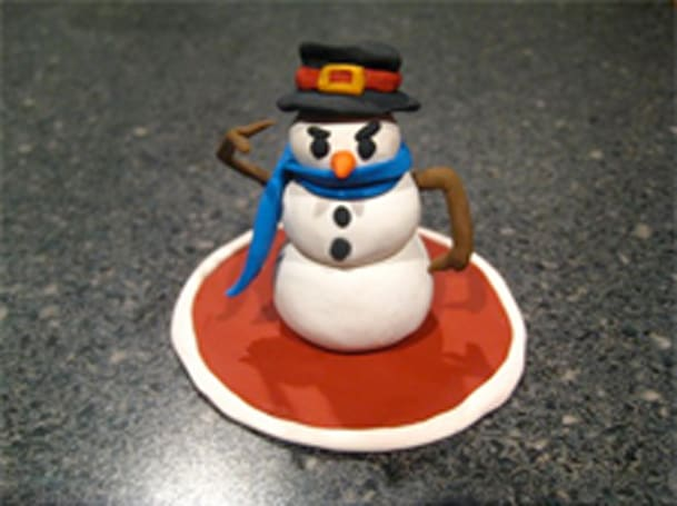 World of WarCrafts: Snowman sculpture