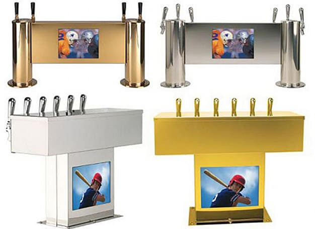 Micro Matic v-POD weds beer dispenser and LCD TV